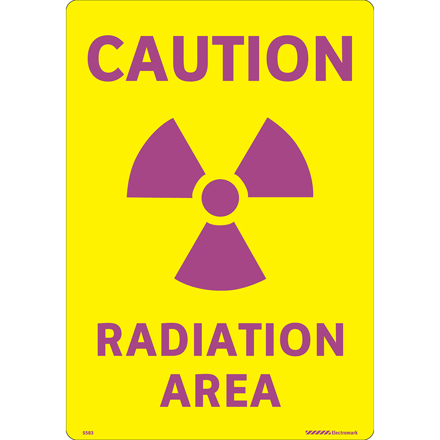 Caution Radiation Area Label