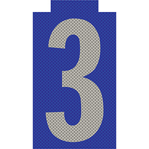 """3"" Phase Reflective Label"