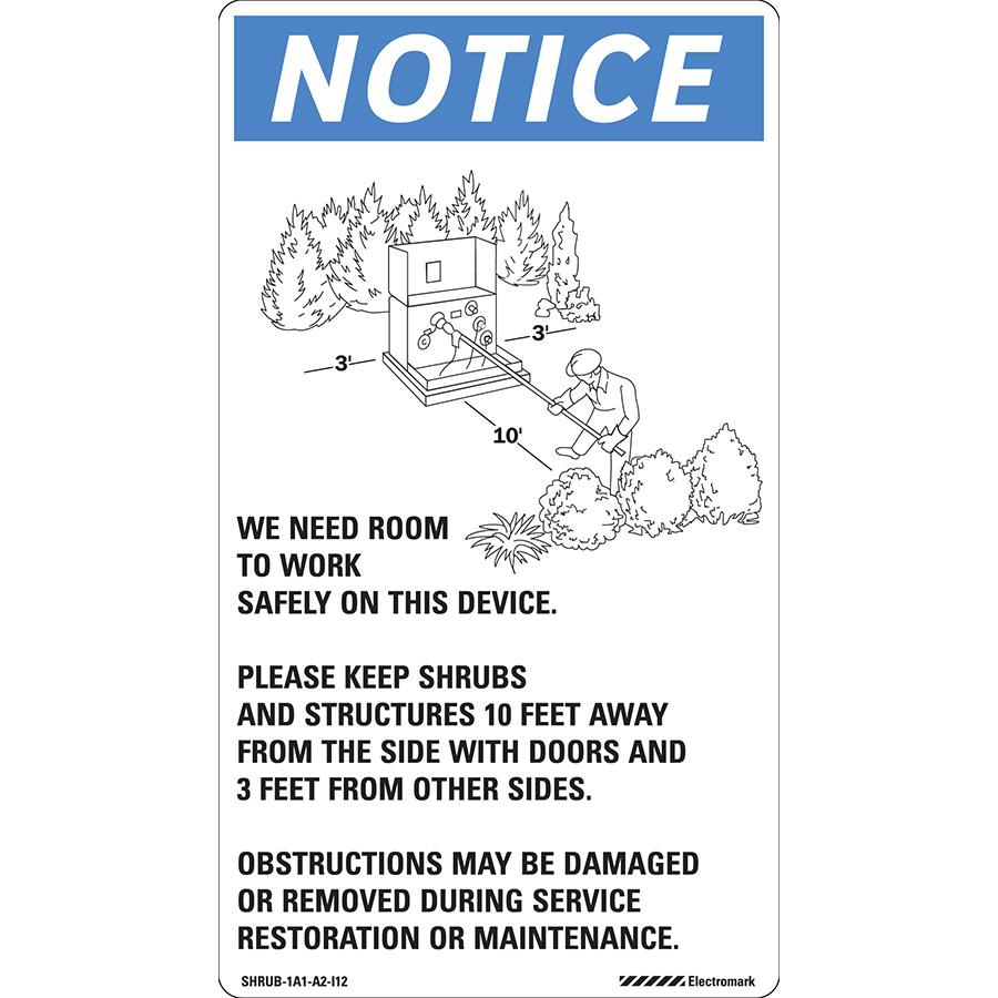 Notice Shrub Management Label