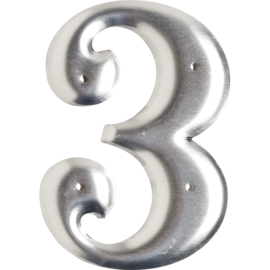 """3"""" Embossed  Aluminum Markers 0-9"""