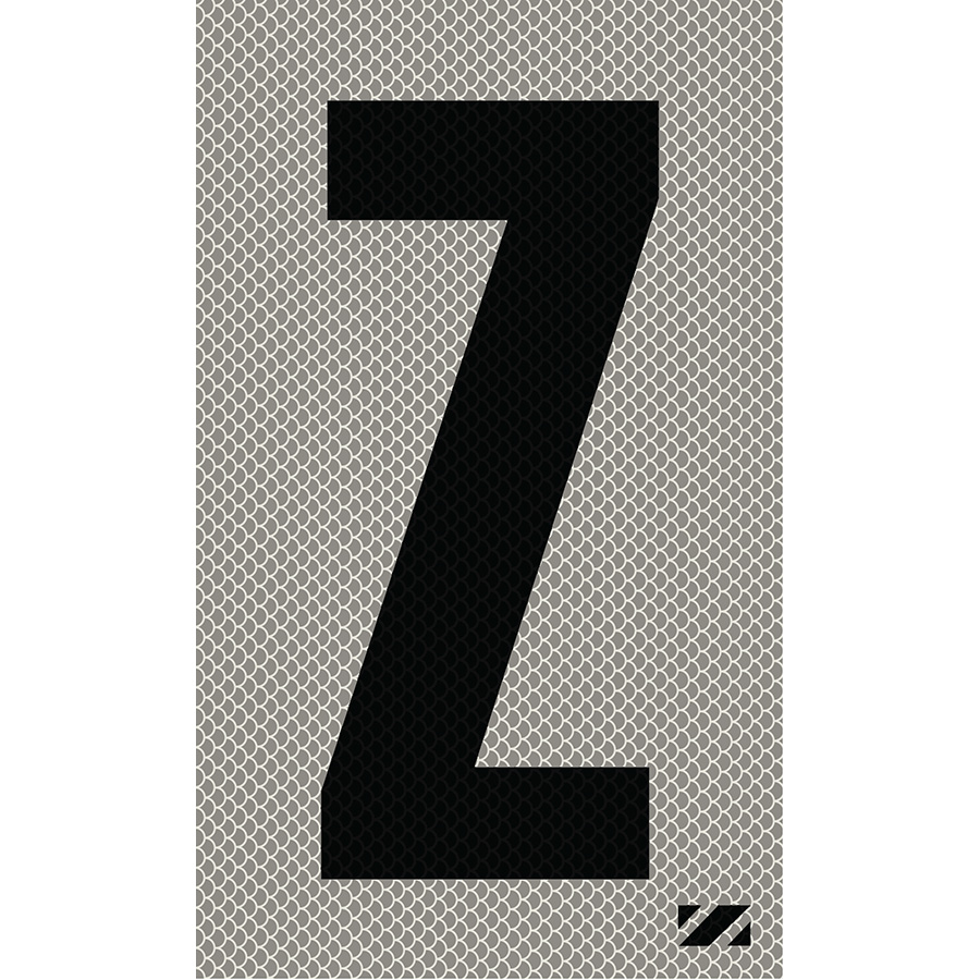 "2"" Black on Silver High Intensity Reflective ""Z"""