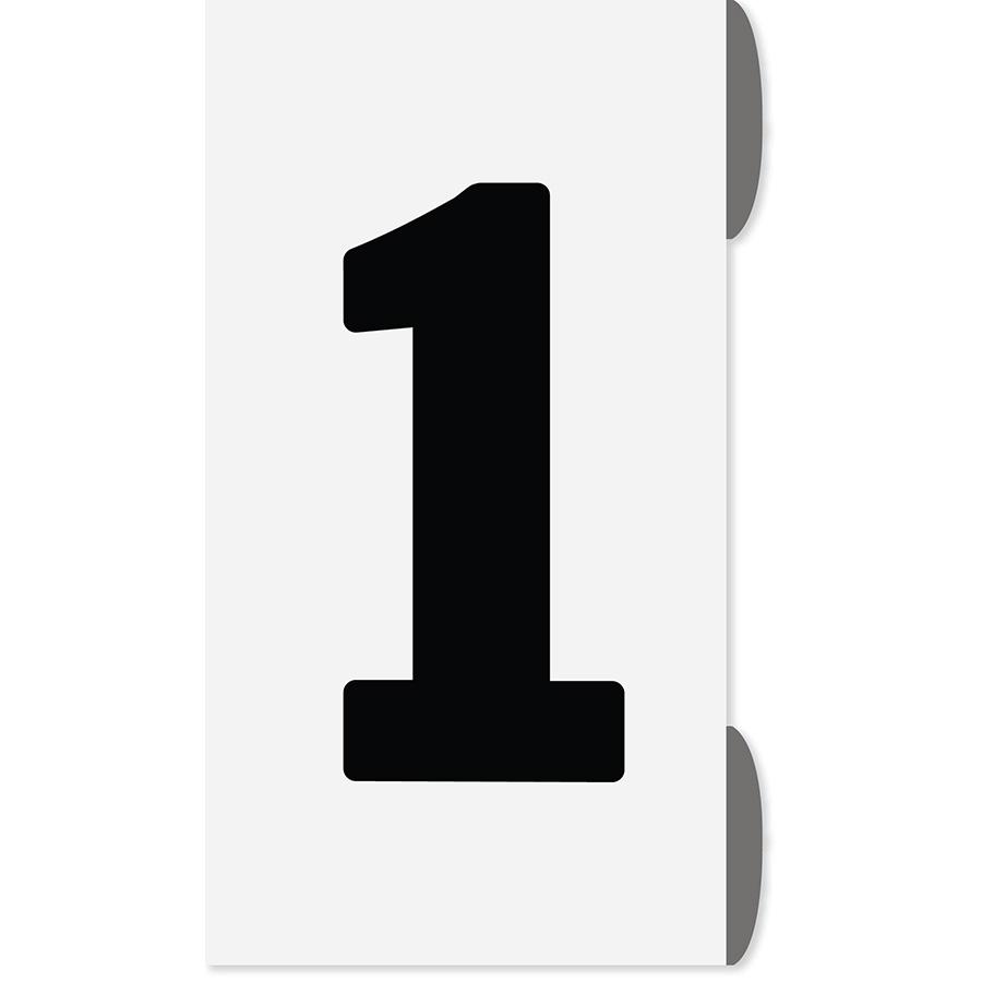 """1"""" Black on White Slip-On Markers 0-9"""
