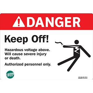 ANSI Danger Keep Off Sign