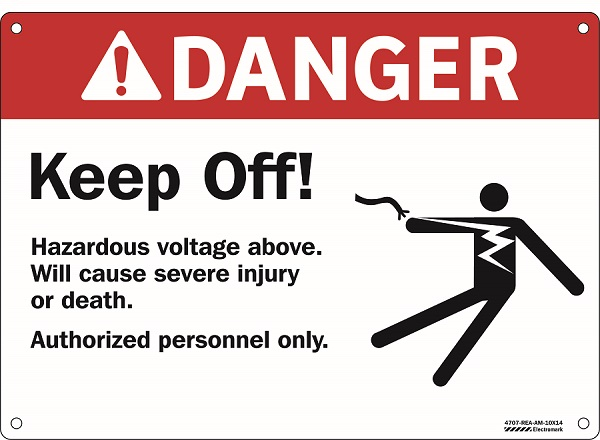 ANSI Danger Keep Off Sign