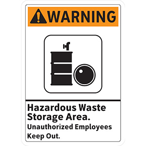 ANSI Warning Hazardous Waste Storage Keep Out Sign