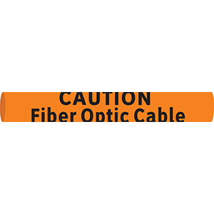 Caution Header Fiber Optic Snap-On Cable Marker