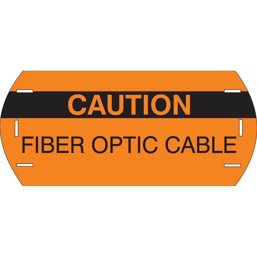 Caution Header Fiber Polyethylene Cable Marker