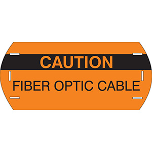 Caution Header Fiber Polyethylene Cable Marker
