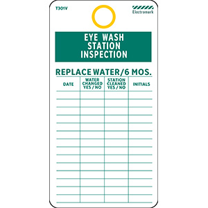 Eye Wash Station Inpection Record Tag