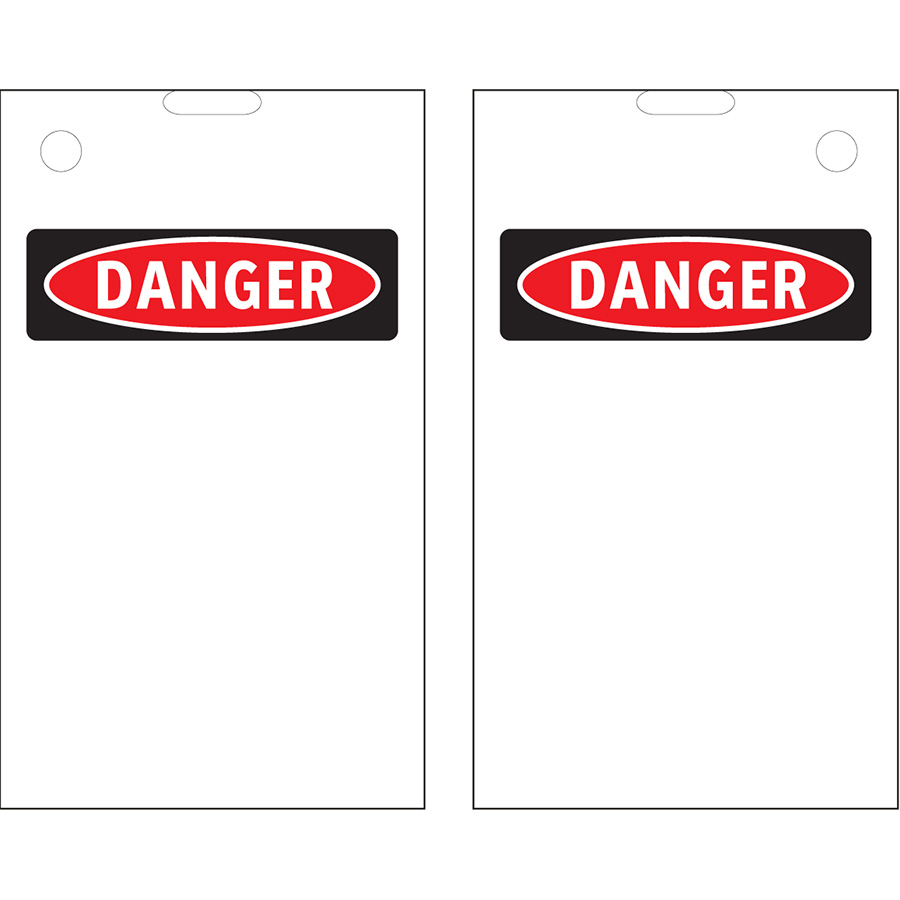 Blank OSHA Danger Header Print On Demand Tags