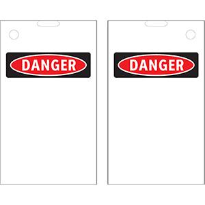 Blank OSHA Danger Header Print On Demand Tags