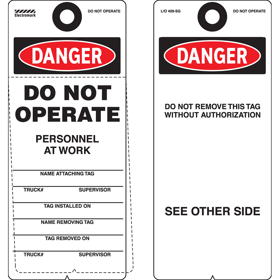 OSHA Danger Do Not Operate Personnel At Work Tag