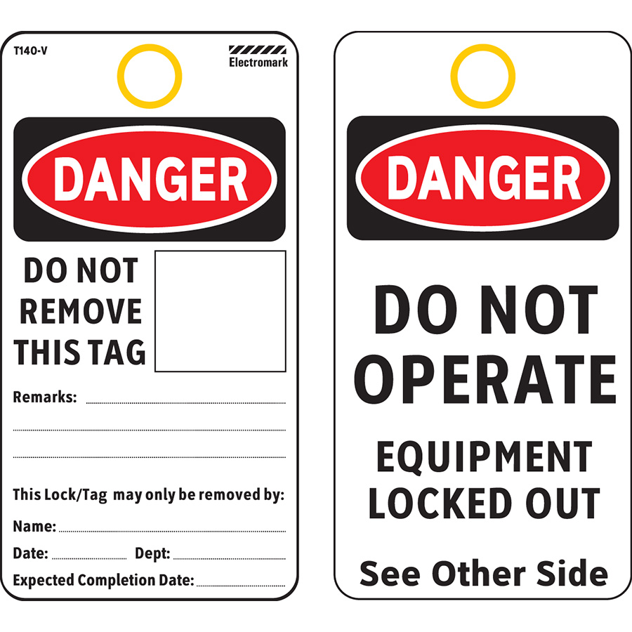 OSHA Danger Do Not Remove This Tag