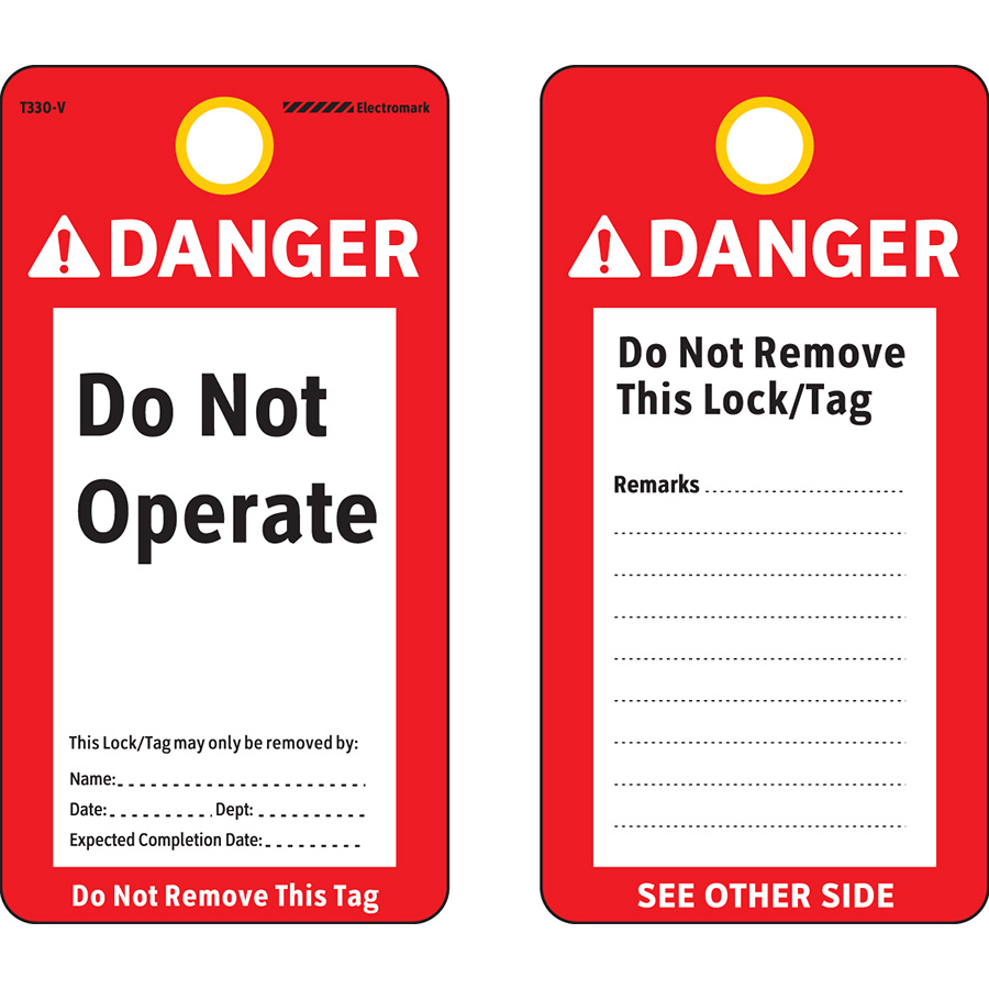 ANSI Danger Do Not Operate Tag
