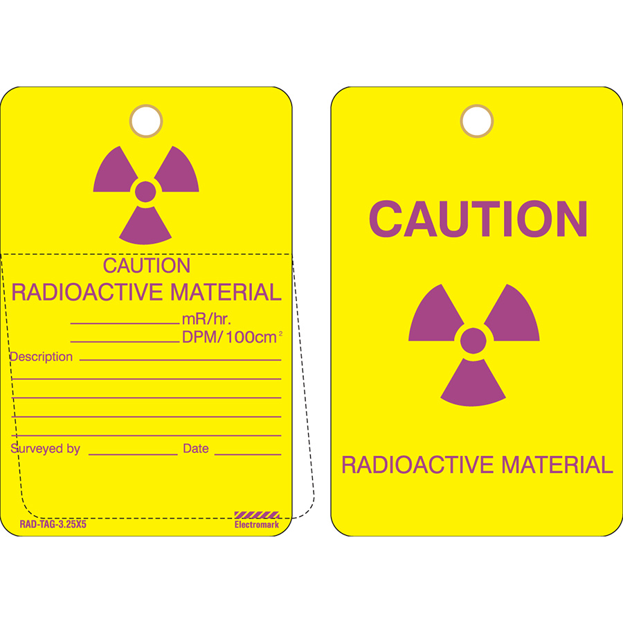 Caution Radioactive Material Tag