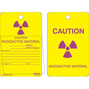 Caution Radioactive Material Tag