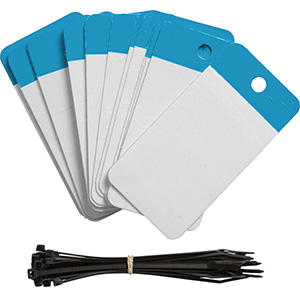 Blue Polyester URD Flap Tags