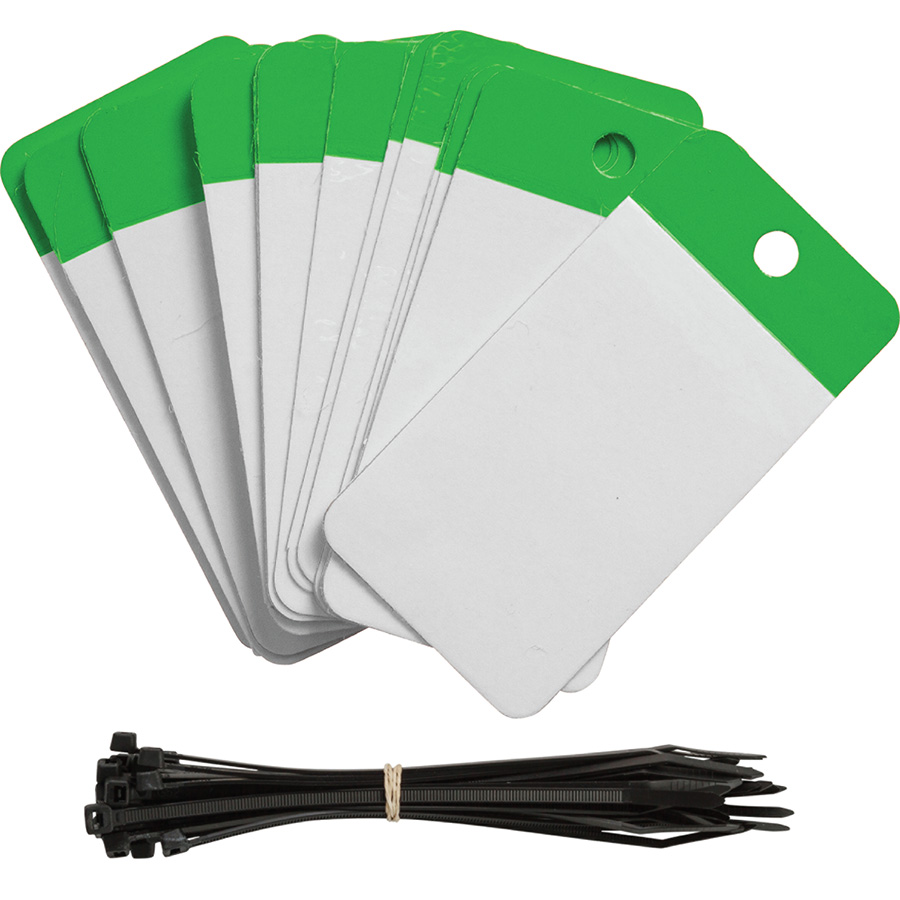 Green Polyester URD Flap Tags