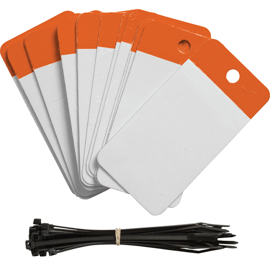 Orange Polyester URD Flap Tags