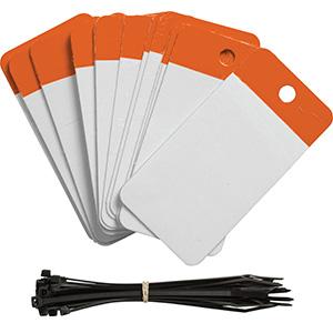 Orange Polyester URD Flap Tags