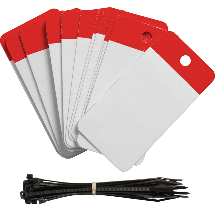 Red Polyester URD Flap Tags