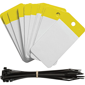 Yellow Polyester URD Flap Tags